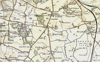 Old map of Rushyford in 1903-1904