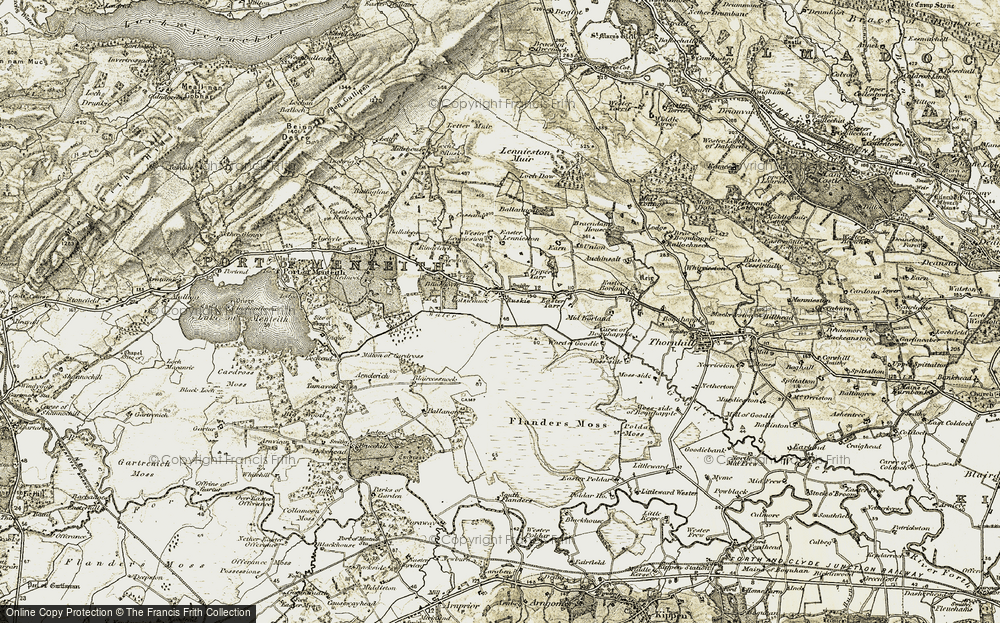 Old Map of Historic Map covering Letter Muir in 1904-1907