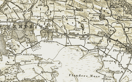 Old map of Letter Muir in 1904-1907