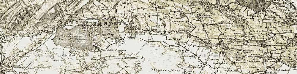 Old map of Wester Lennieston in 1904-1907