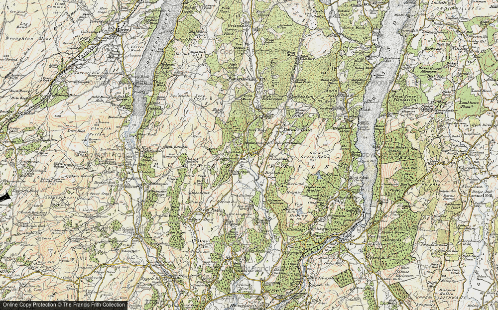 Old Map of Historic Map covering Thwaite Moss in 1903-1904