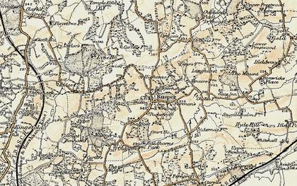 Old map of Rusper in 1898-1909