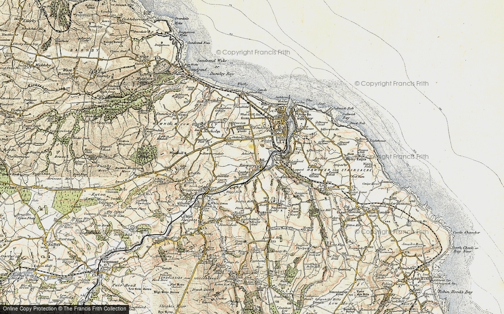Old Map of Ruswarp, 1903-1904 in 1903-1904