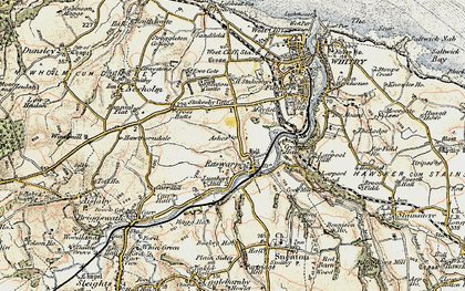 Old map of Ruswarp in 1903-1904