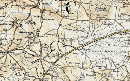 Old map of Ruthvoes in 1900