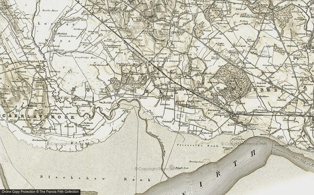 Old Map of Historic Map covering Thwaite in 1901-1904
