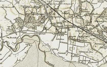 Old map of Ruthwell in 1901-1904