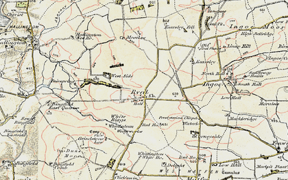 Old map of Whittington White Ho in 1901-1903