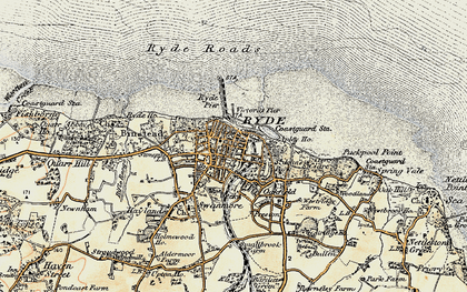 Old map of Ryde in 1899