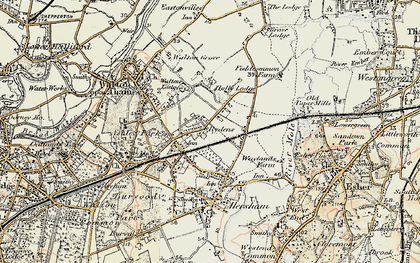 Old map of Rydens in 1897-1909