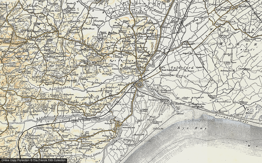 Old Map of Rye, 1898 in 1898