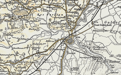 Old map of Ypres Tower in 1898