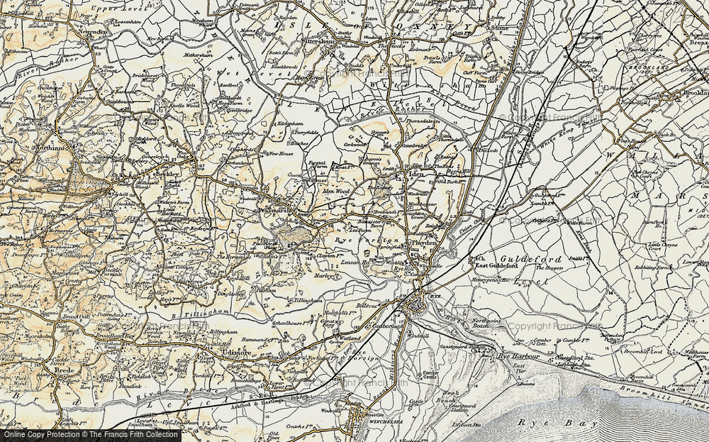 Old Map of Historic Map covering Leasam Ho in 1898