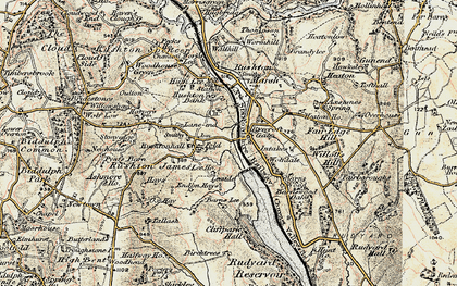 Old map of Leeside in 1902-1903