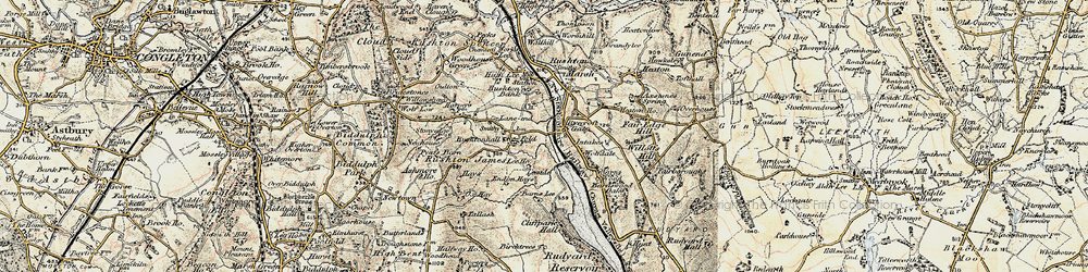 Old map of Wolf-Dale in 1902-1903