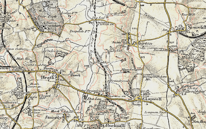 Old map of Rylah in 1902-1903