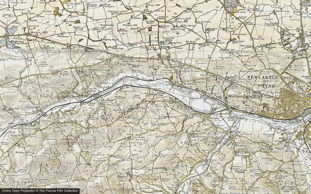 Old Map of Ryton, 1901-1904 in 1901-1904