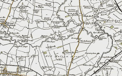 Old map of Acomb Ho in 1903-1904