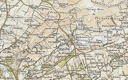 Old map of Sabden in 1903-1904