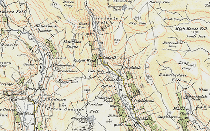 Old map of Bannisdale Fell in 1903-1904