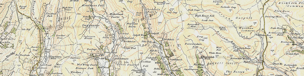 Old map of Ancrow Brow in 1903-1904