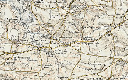 Old map of Whitehill in 1901-1912