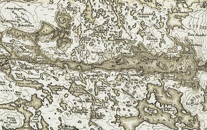 Old map of Bàgh Ròisinis in 1911