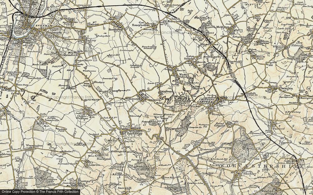 Old Map of Saintbury, 1899-1901 in 1899-1901