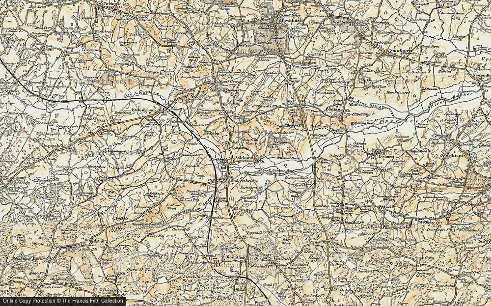 Old Map of Historic Map covering Bantony in 1898