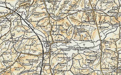 Old map of Bantony in 1898