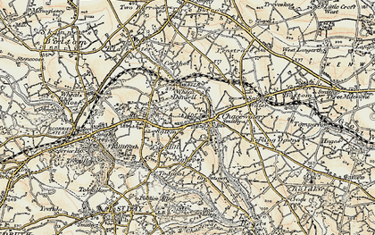 Old map of Salem in 1900