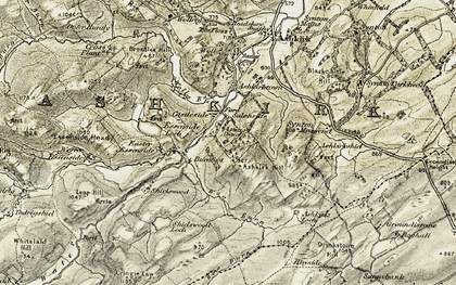 Old map of Burnfoot in 1901-1904