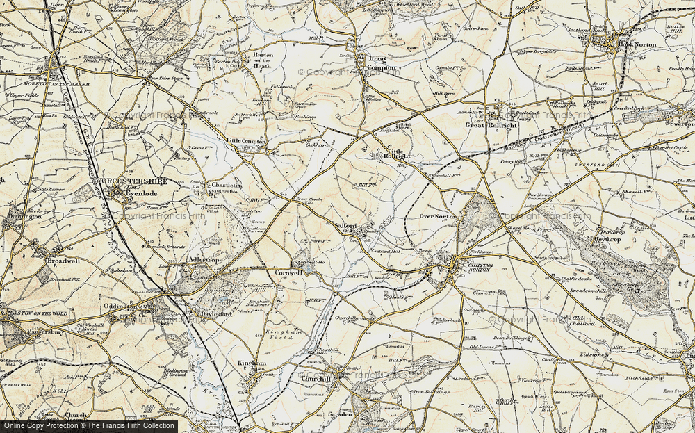 Old Map of Salford, 1899 in 1899
