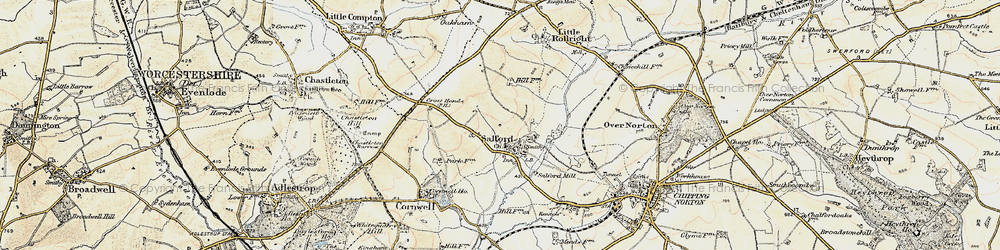 Old map of Salford in 1899