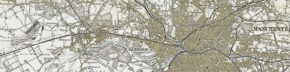 Old map of Salford in 1903