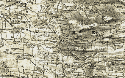 Old map of Aiky Hill in 1904-1906