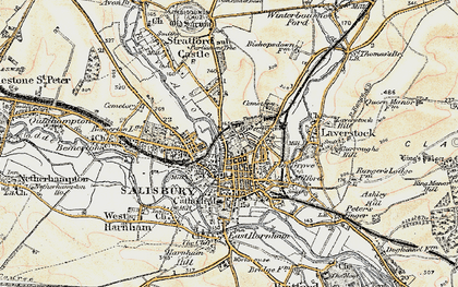 Old map of Salisbury in 1897-1898