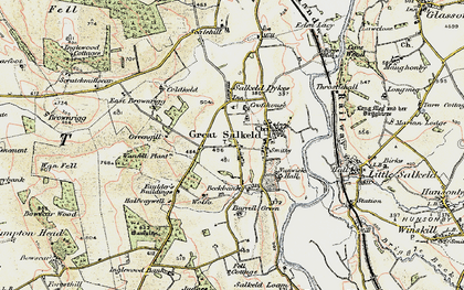 Old map of Wolfa in 1901-1904