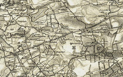 Old map of Law's Castle in 1904-1905