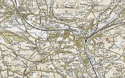 Old map of Saltaire in 1903-1904