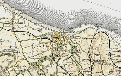 Old map of Saltburn-By-The-Sea in 1903-1904