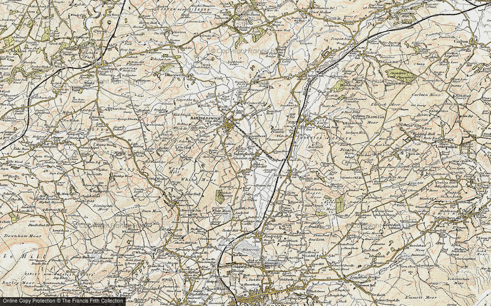 Old Map of Historic Map covering Letcliffe Country Park in 1903-1904