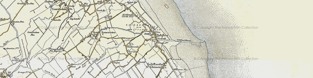 Old map of Saltfleet in 1903