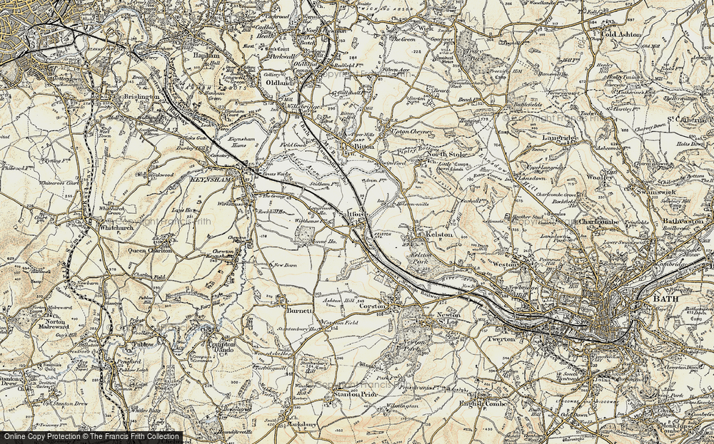 Old Map of Historic Map covering Avon Valley Country Park in 1899