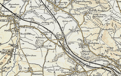 Old map of Avon Valley Country Park in 1899