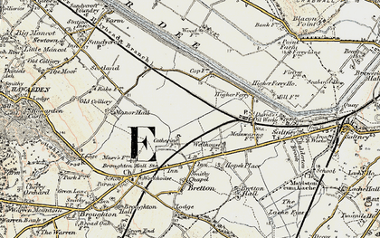 Old map of Saltney Ferry in 1902-1903