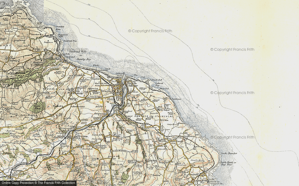 Old Map of Saltwick Bay, 1903-1904 in 1903-1904