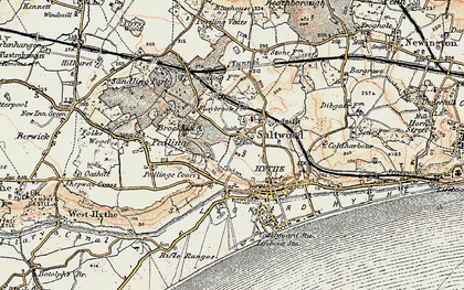 Old map of Saltwood in 1898-1899