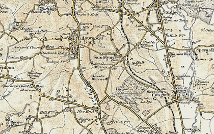 Old map of Alcester Warren in 1899-1902