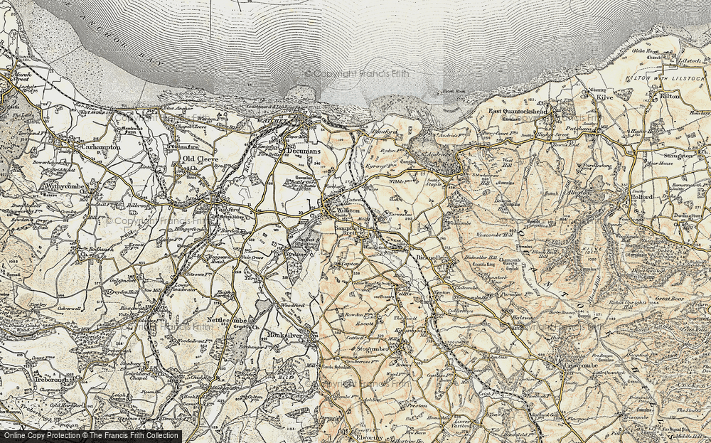 Old Map of Sampford Brett, 1898-1900 in 1898-1900